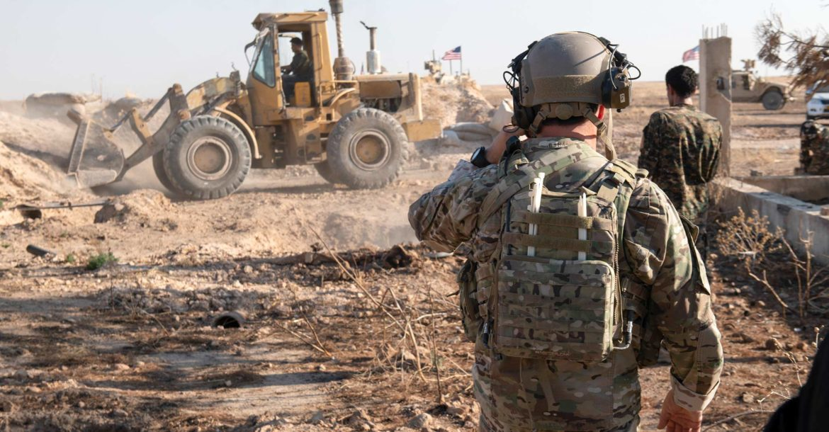 SDF removes border fortifications