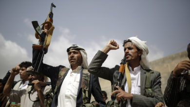Houthi fighters in Yemen