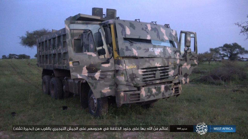Military truck captured by ISWAP