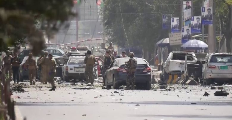 Taliban car bomb in Shash Darak area of Kabul, Afghanistan