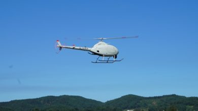 KAI NI-600 VT UAV helicopter test