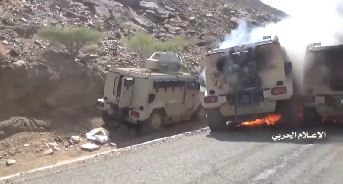 Yemen's Houthi rebels captured pro-government fighters' vehicles