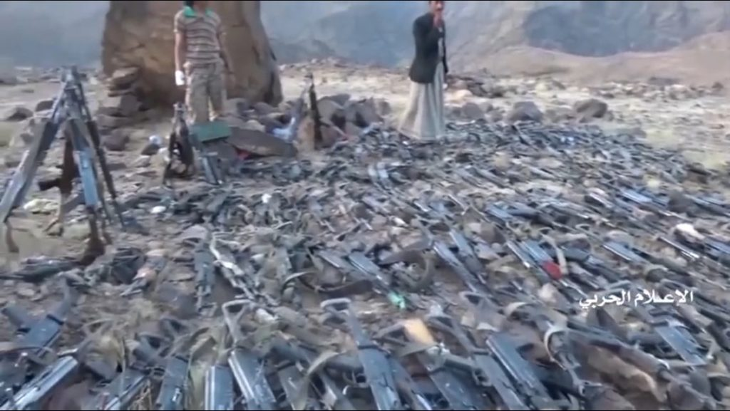 Houthi rebels capture guns from pro-Yemen government forces