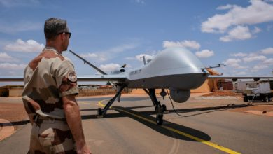 French MQ-9 Reaper drone in Niger