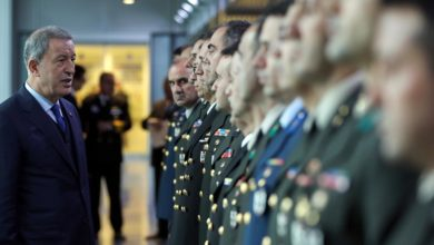 Turkey's defense minister Hulusi Akar visits NATO HQ