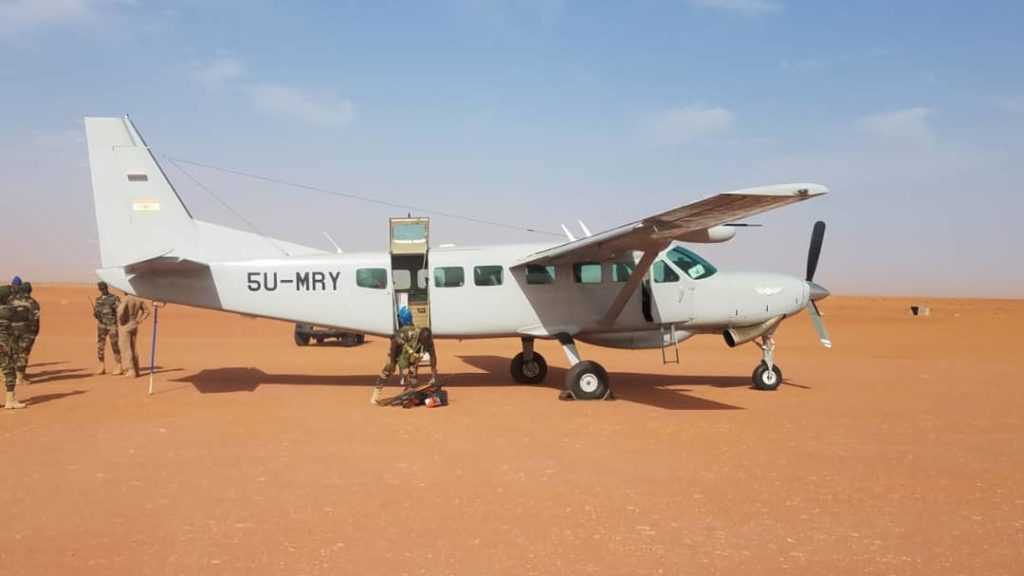 Niger Air Force C-208 supports G5 Sahel Joint Force