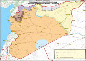 Russia-Turkey map of northeast Syria