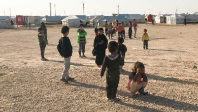 Children in Al Hol camp, Syria