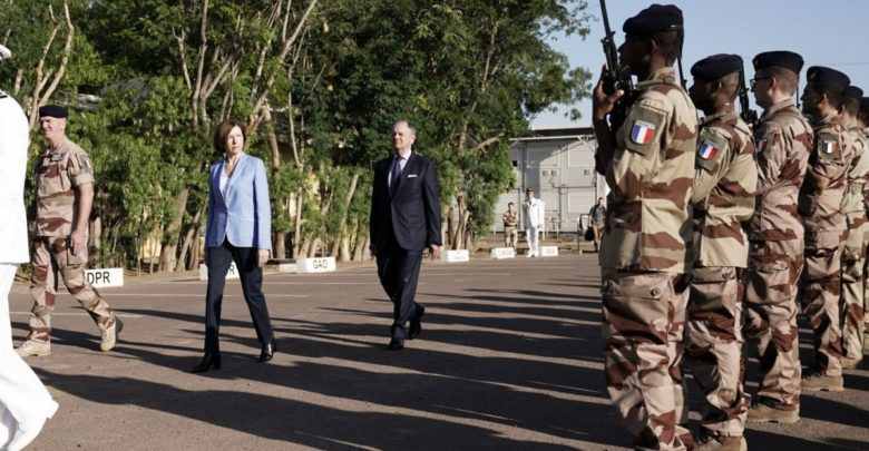 Florence Parly reviews French troops in Chad