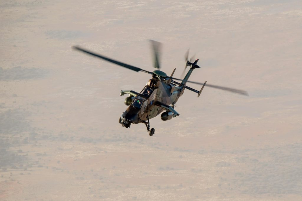 French Tigre helicopter in the Sahel