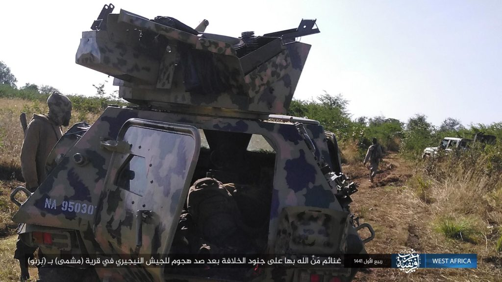 VBL light armored vehicle captured by ISWAP