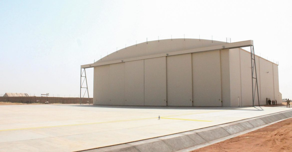 Niger Air Force C-130 hanger in Agadez