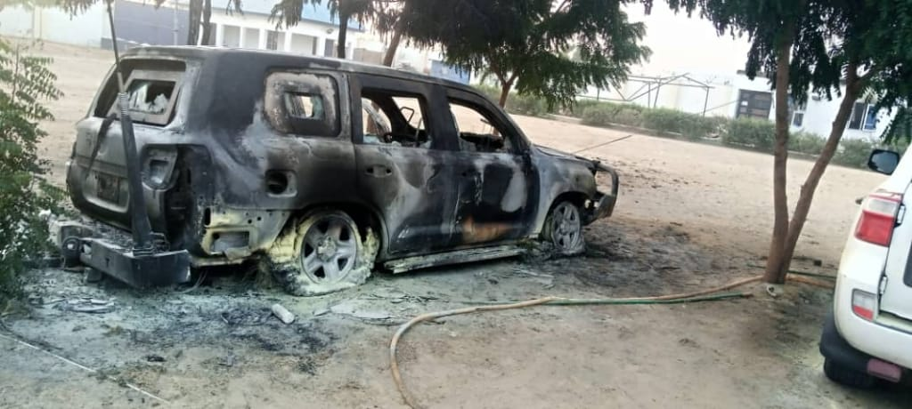 UN vehicle destroyed in Ngala