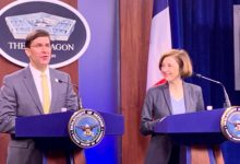 French Armed Forces Minister visits Pentagon