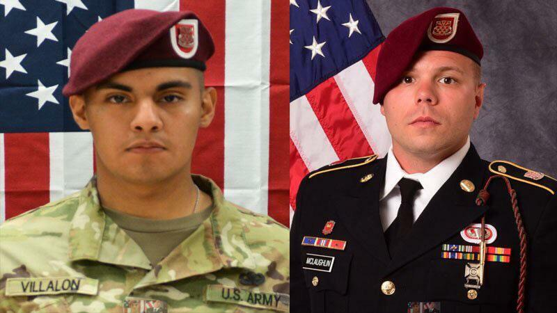 US Army Pfc. Miguel A. Villalon and Staff Sgt. Ian P. McLaughlin