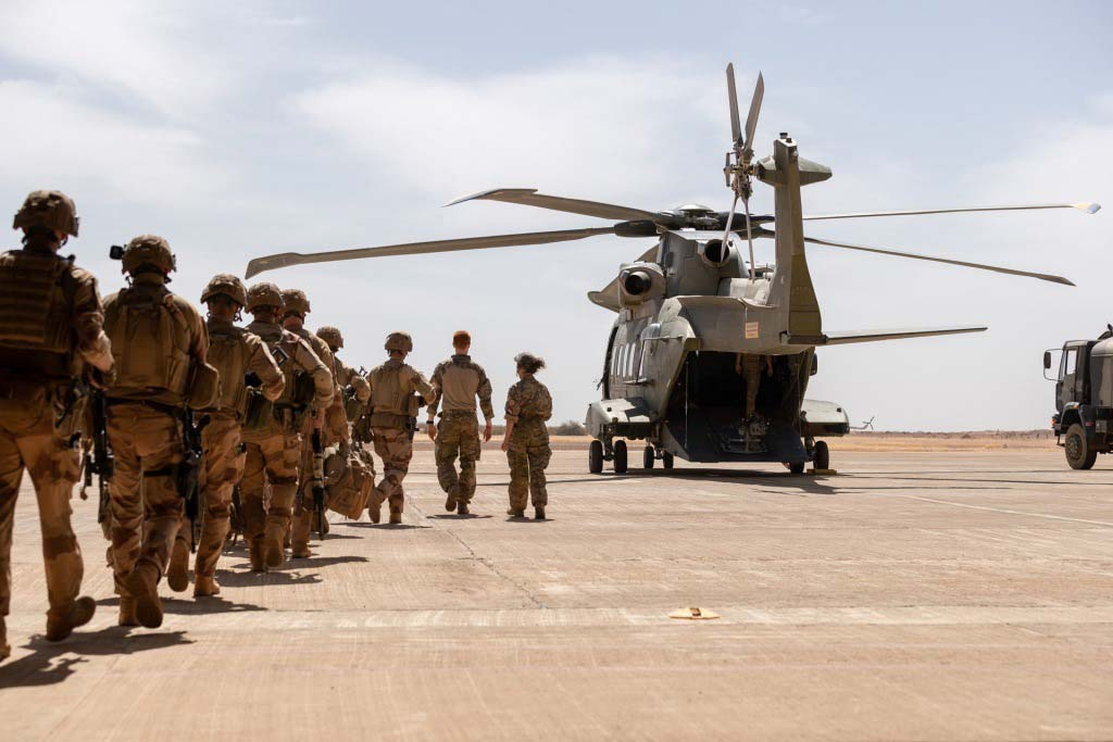Denmark AW101 helicopter in the Sahel