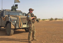 Irish soldier in Mali