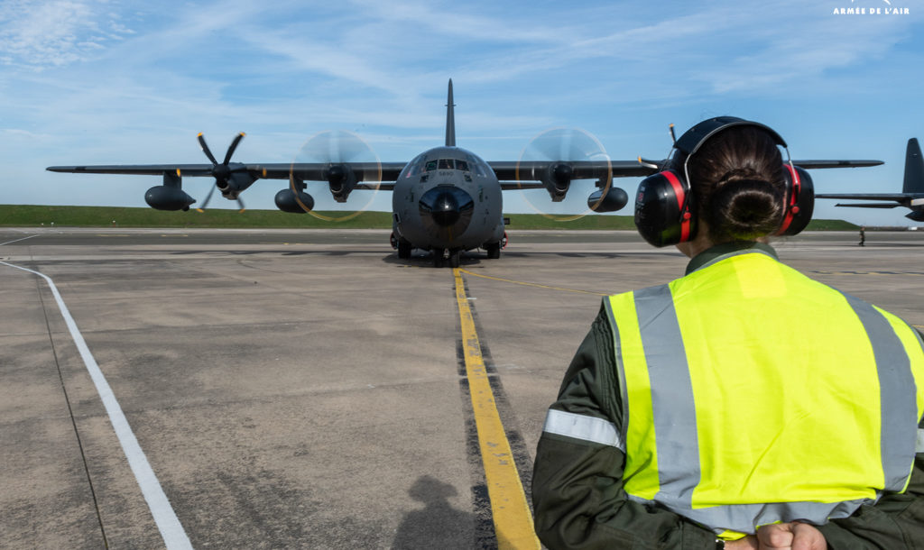 KC-130J lands in France