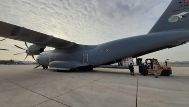 Turkish Air Force Atlas A-400M with coronavirus aid