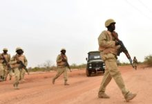 Burkina Faso's armed forces, pictured during training, have carried out security sweeps in an attempt to stem jihadist violence.