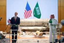 US Special Representative for Iran Brian Hook and Saudi Foreign Minister Adel al-Jubeir.