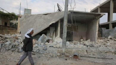 A destroyed home in Idlib, Syria.