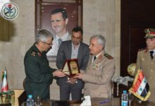 Chief of Iran's Armed Forces Major General Mohammed Bagheri and Syrian Defense Minister Ali Ayoub in Damascus.