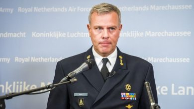 Lieutenant Admiral Rob Bauer Chief of Dutch Defence attends a press conference at the Ministry of Defence in The Hague, Netherlands July 20, 2020 regarding a Dutch army helicopter crash in the Caribbean.