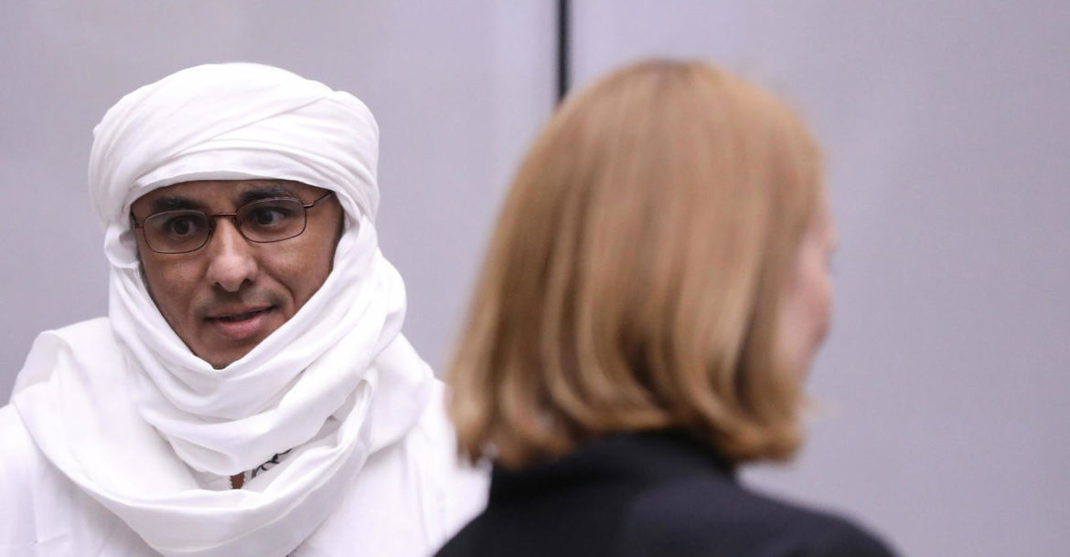 Al Hassan Ag Abdoul-Aziz during a hearing in the preliminary phase of the case at the International Criminal Court, in The Hague, on 8 July 2019
