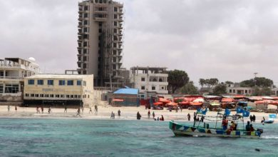 A view of Elite Hotel in the Lido beach area of Mogadishu