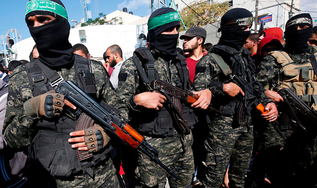 Hamas operatives in Gaza