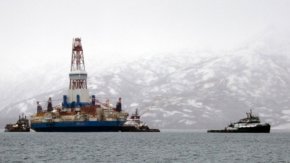 Shell's Kulluk drill barge which ran aground in 2012
