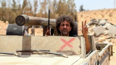 A Government of National Accord (GNA) fighter in Abu Qurain, Libya.