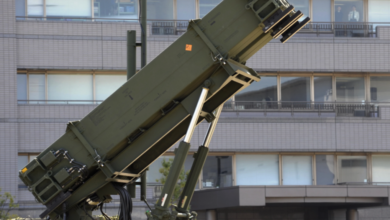 Japan Air Self Defence Forces' Patriot Advanced Capability-3 (PAC-3) interceptor missile launcher. File photo: AFP