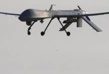 A US Air Force MQ-1B Predator unmanned aerial vehicle carrying a Hellfire missile similar to the one believed to be used in the strike.