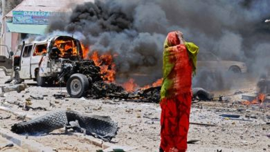 A car blast in Mogadishu claimed by Al Shadab