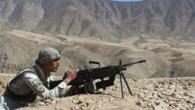 An Afghan security force member during a military operation in Jurm district, Badakhshan province, Afghanistan.