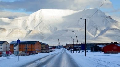 Longyearbyen, Svalbard in the Norwegian Arctic archipelago