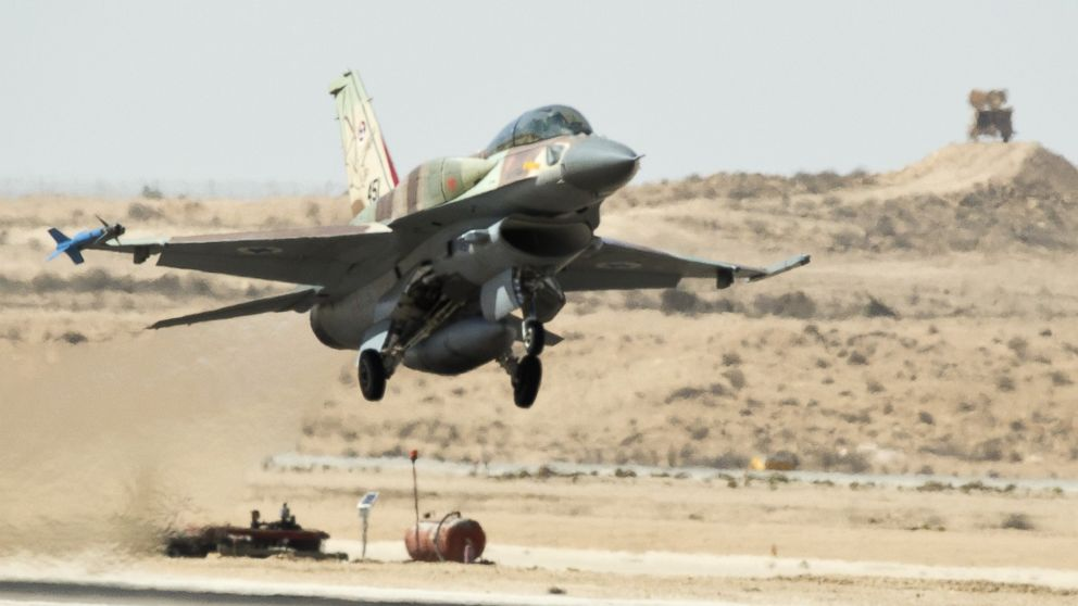 An Israeli warplane takes off