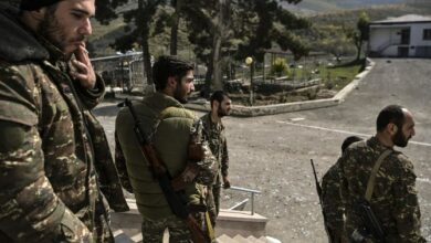 Armenian soldiers sighted at a military hospital.