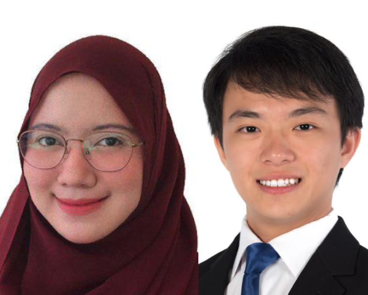 Headshots of Amalina Binte Abdul Nasir and Kenneth Yeo Yaoren