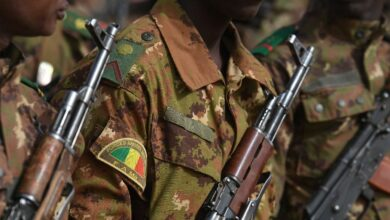 Photo of soldier in Mali