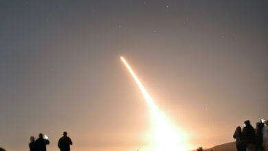 An Air Force Global Strike Command unarmed Minuteman III intercontinental ballistic missile launches during an operational test at 12:27 a.m. Pacific Time, Thursday, October 29, 2020, at Vandenberg Air Force Base, California