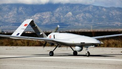 Turkey's Bayraktar TB military drone.