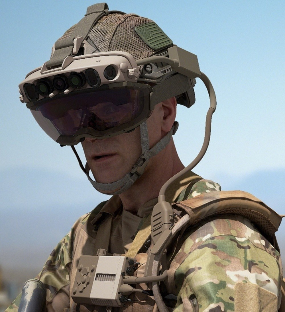 In a June 2020 photo, a Soldier wears the Integrated Visual Augmentation system, or IVAS.