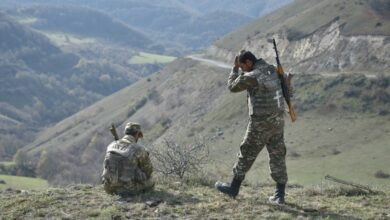 Armenian reservists in the Shusha region early November