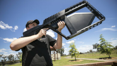 DroneShield's DroneGun, an optical system to better identify and help neutralize armed drones.