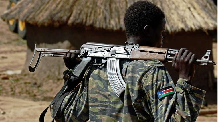South Sudanese soldier.