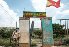 Standing guard during the Tigray regional elections, which the national government declared illegal