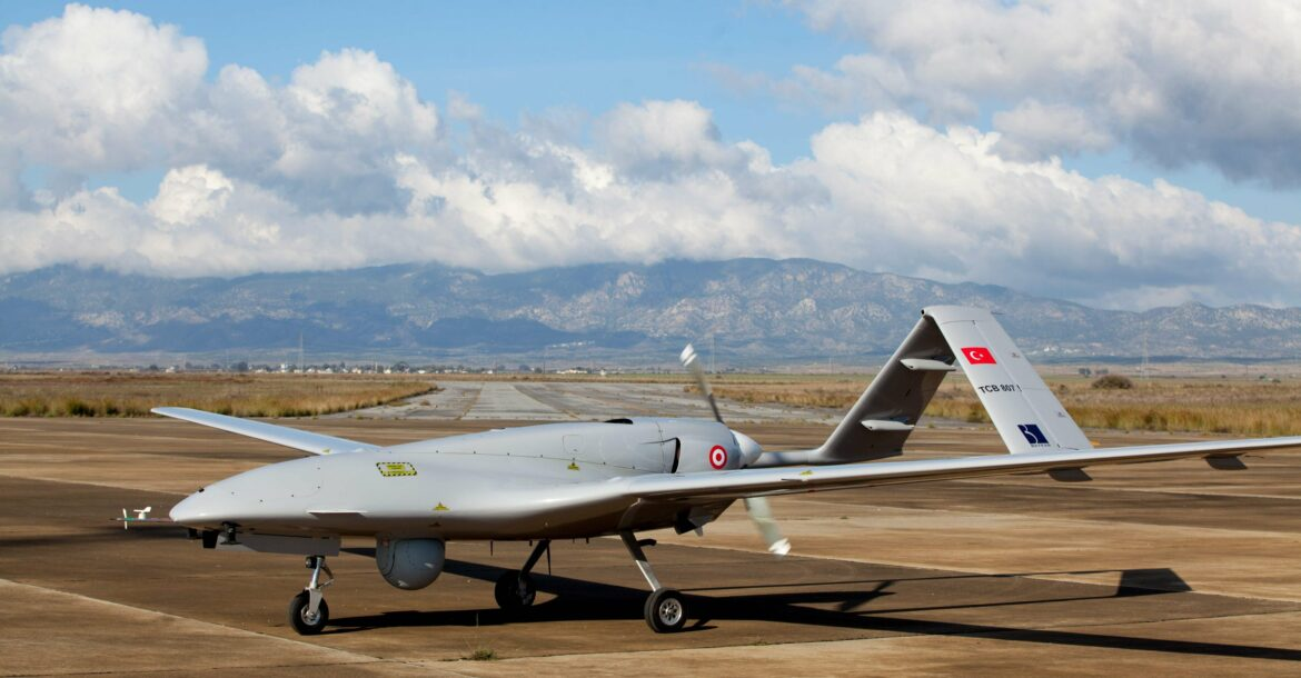 Bayraktar TB2 drone at the Geçitkale military air base in the Turkish Republic of Northern Cyprus, December 16, 2019